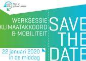 Save the Date: Werksessie Klimaatakkoord & Mobiliteit